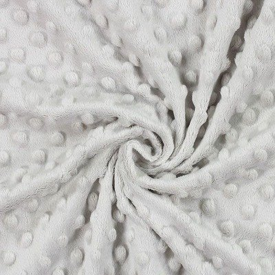 Minky Dot Fleece Fabric - Silver Gray