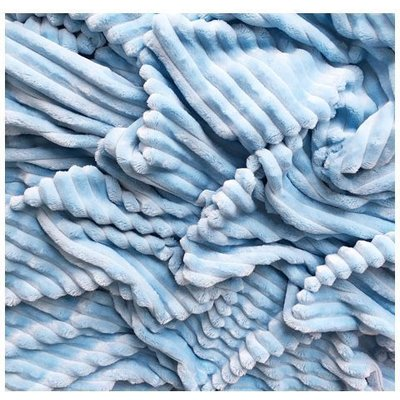 Plush Minky Stripes Premium - Baby Blue