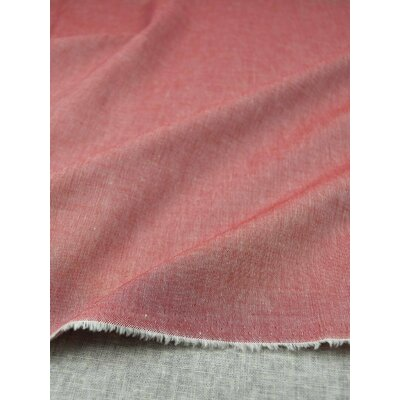 Poplin Bumbac Yarn Dyed - Red