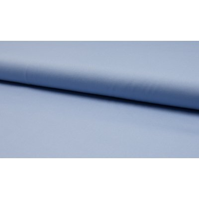 Poplin din bumbac uni - Dusty Blue