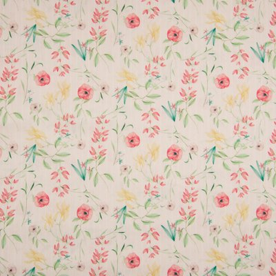 Poplin -  Flower Stripe Rose
