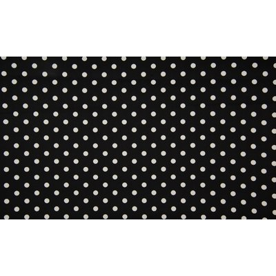 Poplin imprimat - Big Dots Black