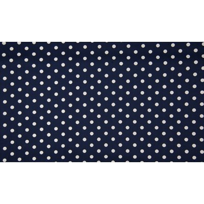 Poplin imprimat - Big Dots Navy