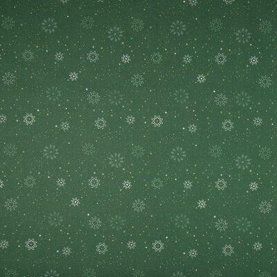 Poplin imprimat - Christmas Stars Green