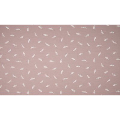 Poplin imprimat - Feather Dusty Rose