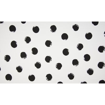 Poplin imprimat - Painted Dots Black