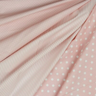 Poplin imprimat - Petit Stripe Light Rose