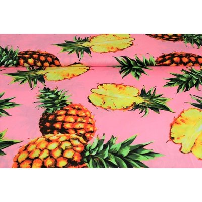 Poplin imprimat - Pineapple Rose