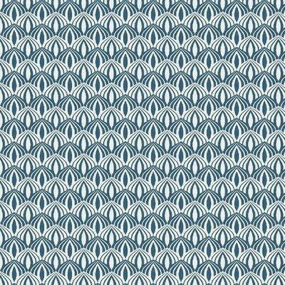 Poplin imprimat - Scallop Blue