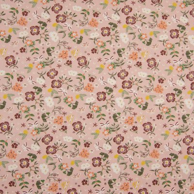 Poplin imprimat - Small Flowers Rose
