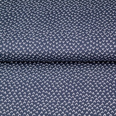 Poplin imprimat - Ticks Navy