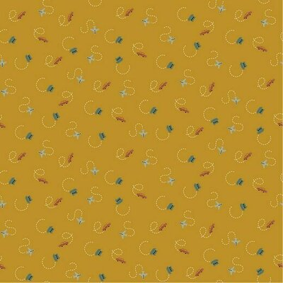 Poplin imprimat - Tiny Traffic Ochre
