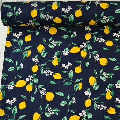 Poplin - Lemon Blossom Navy