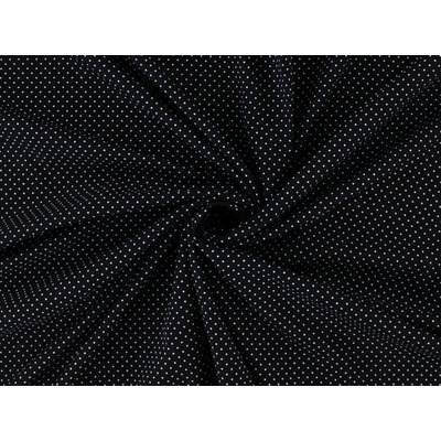 Poplin Mini Dots Black