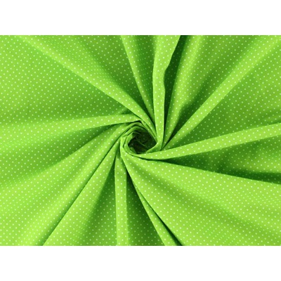 Poplin imprimat - Mini Dots Lime