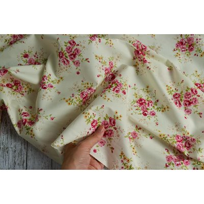 Poplin Rose Bunch Ivory