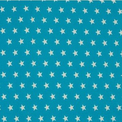 Poplin - Stars Aqua