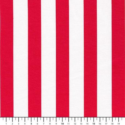 Poplin Stripes White-Red