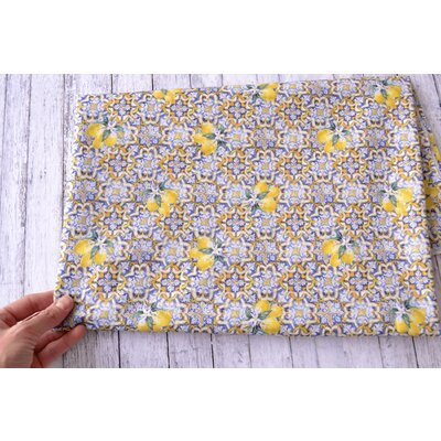 Printed cotton - Azulejos Lemon