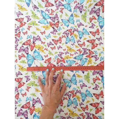 Printed cotton - Butterfly Bright