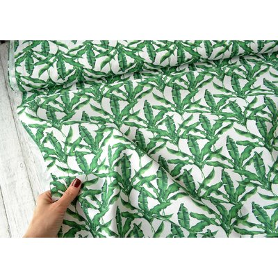 Printed Cotton - Canarias Green