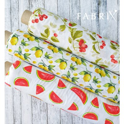 Digital Print Cotton - Cherries