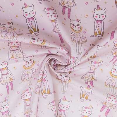 Printed cotton -Delicats Rose