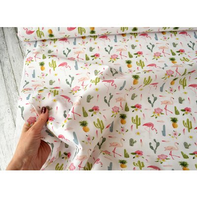 Printed Cotton - Flamingo
