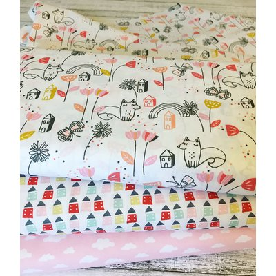Printed Cotton - Monjardin Coral
