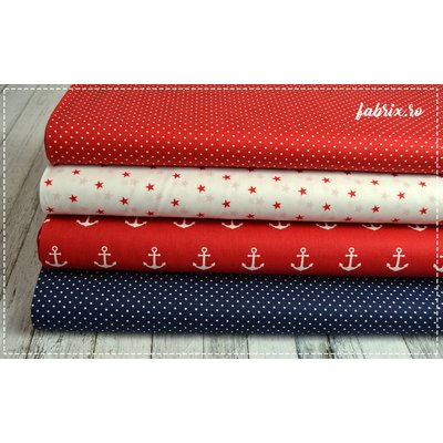 Printed Cotton - Petit Dot Red