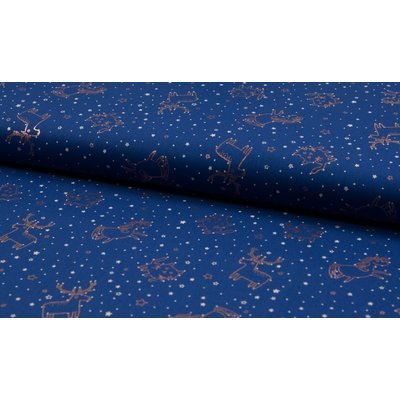 Printed cotton with gold foil -In the Stars