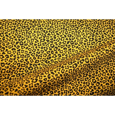 Printed Jersey - Leopard Small Yellow