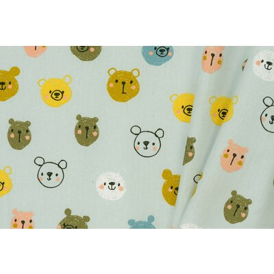Printed Poplin - Cute Bears Blue