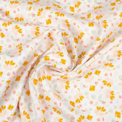Printed Poplin - Pretty Flowers White