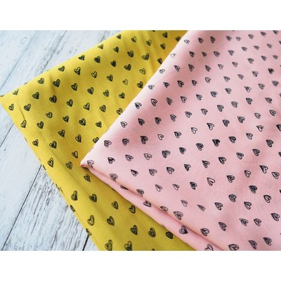Printed viscose - Radiance Hearts pink