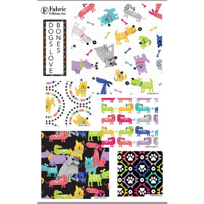 Set Fat Quarter - Dogs love Bones