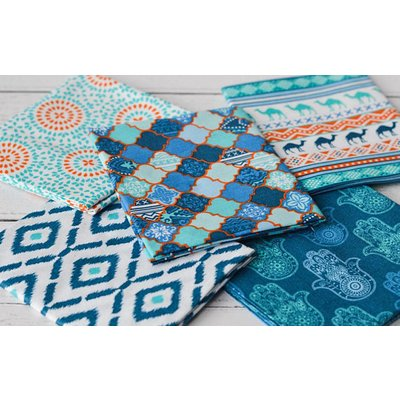 Set Fat Quarter Moroccan Bazaar Tile