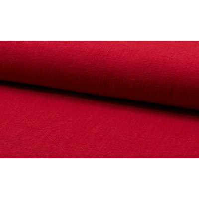 Stonewashed linen - Red