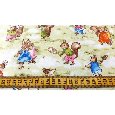 Storybook Meadow Bunnies Vintage