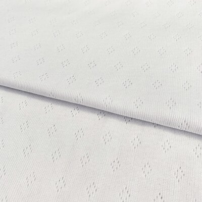 Tricot 100% bumbac - Pointoille White