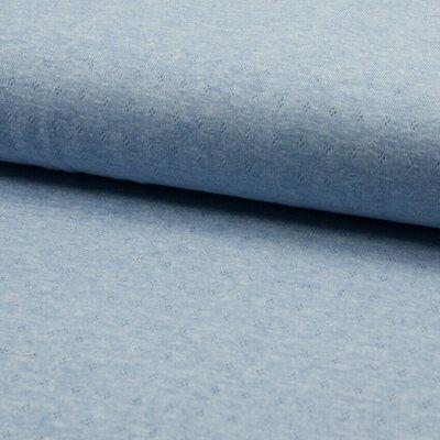 Tricot bumbac subtire Ajour Light Blue