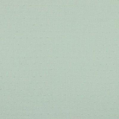 Voal de bumbac cu buline brodate - Plumetis Mint