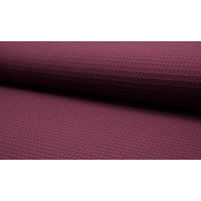 Waffle Cotton Fabric Bordo