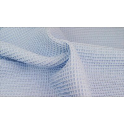 Waffle Cotton Fabric Light Blue