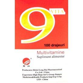 9-VITA multivitamine 100drajeuri