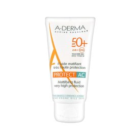 A-derma Protect AC Fluid Matifiant Ten Gras Spf 50+ 40ml
