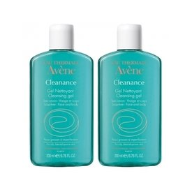 Avene Cleanance Gel de Curatare Ten Acneic 200ml+200ml