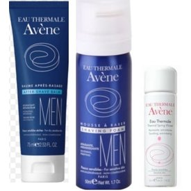 Avene Men Balsam 75ml+Spuma de ras 50ml+Apa termala 50ml