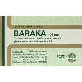 Baraka 100 mg  24 capsule moi