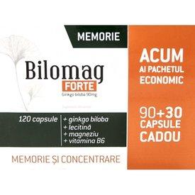 BILOMAG FORTE Memorie și concentrare, 120 capsule